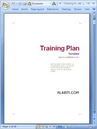 training plan template word training plan templates ms word 14 x excel spreadsheets