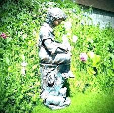 yard statues for bronze garden l unknown pair of sydney bronze garden statues bronze garden life size garden statues savillerowcom