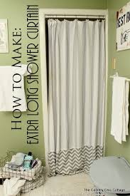how to make an extra long shower curtain add length to your shower curtain