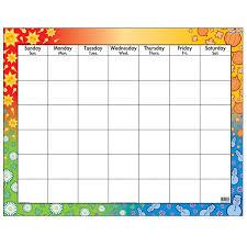 Trend Large Wipe Off Blank Calendar Chart Tept1170
