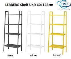 malaysia ready stock ikea lerberg shelf unit 60x148cm dark grey white yellow