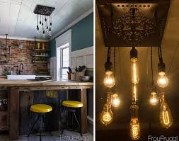 diy dining room chandelier with edison bulbs view in gallery