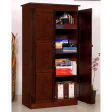 Wooden Storage Cabinets With Doors Furniture Smart Design Of Wooden Storage Cabinet With Doors To
