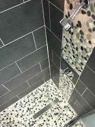 river stone shower floor interior design natural stone pebble tile white pebble floor tiles tile for