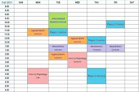 Nice Study Schedule E Images Gallery College Co Timetable