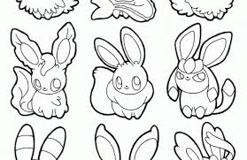 Small Picture pokemon coloring pages eevee evolutions together Just Colorings