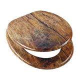 Found it at Wayfair.co.uk - Rustic Wood Core Toilet Seat