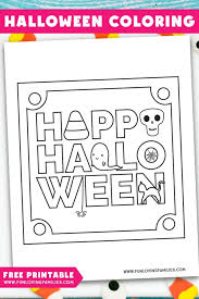 Free printable halloween coloring sheets printable for kids that you can print out and color. Halloween Coloring Pages Free Printables Fun Loving Families