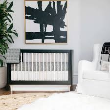 black and white crib sheet by oilo  yliving