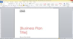 business plan word templates free business plan template for word 2013