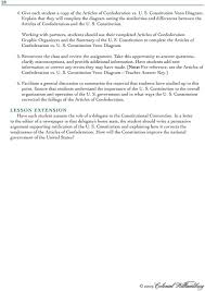 Articles Of Confederation And Constitution Venn Diagram Forming A More Perfect Union Pdf