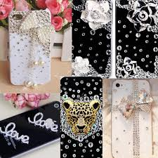 3d alloy bling gems rhinestones bead diy cell phone case deco kit