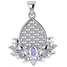 lotus flower of life amethyst pendant at jewelry gem sterling silver jewerly gemstone