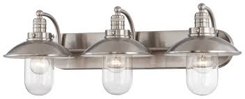 Wage Lighting Design Vanity Minka Downtown Edison Brushed Nickel 10 5 H X 28 5