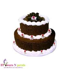 Online Flowers Cakes Delivery 2 Tier Black Forest Cake 3 Kg