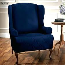 blue wingback chair. Navy Wingback Chair Slipcover Large Size Of Covers Blue Wing .