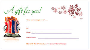 Word Templates For Gift Certificates Gift Certificate Template Word 2013