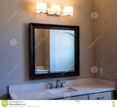 Extended Bathroom Vanity Light Modern Bathroom Vanity Mirror And Lights Stock Image Image