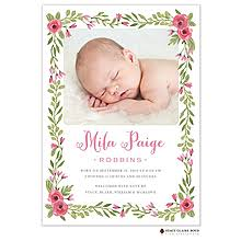 Printed Birth Announcement Girl Birth Announcements New Selections Winter 2019