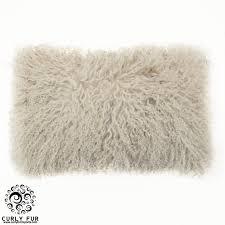 Mongolian fur pillows Teal Curly Fur Imports Beautiful And Luxurious 100 Tibetan Mongolian Lamb Fur Pillow