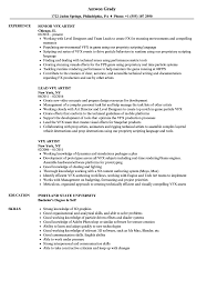 Artist Resume Sample Vfx Artist Resume Samples Velvet Jobs 28