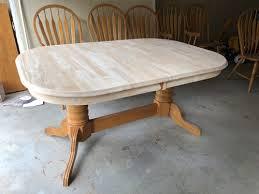 sanding solid oak table seeking matte