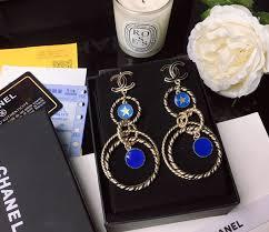 <b>High Grade Blue</b> Star Painted <b>Fashion</b> Female Letters Earrings ...