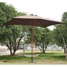 outsunny wooden garden parasol sun shade patio outdoor umbrella canopy shelter