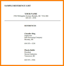 template for professional references 8 professional references template the stuffedolive restaurant