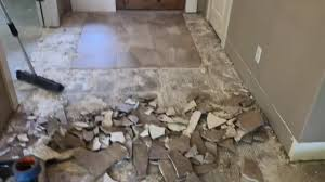 removing tile from a concrete slab