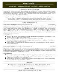 Accounting Clerk Resume Sample Jk Smart Print For Emmabender