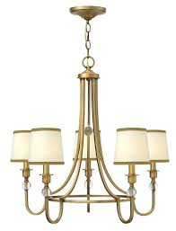 chandeliers hinkley lighting chandelier 5 light in brushed bronze stone casa