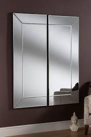 modern 2 panel wall mirror 152 x 125 cm
