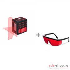 Нивелир <b>лазерный ADA</b> Cube Mini Basic Edition + <b>очки лазерные</b> ...