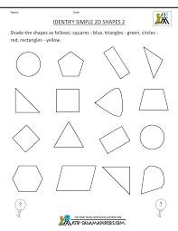 Free Printable Geometry Worksheets Identify Simple