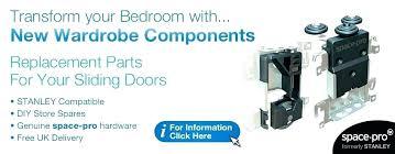 stanley wardrobe doors door parts door system bedrooms plus sliding wardrobe door replacement parts door systems troy door stanley sliding mirror doors