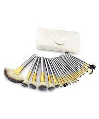 crushed mocha 24 piece makeup brush set