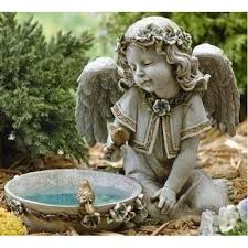 angel small fiber statue porcelain