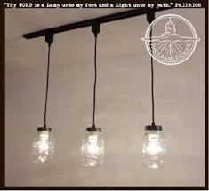 Image Mason Jar Mason Jar Track Lighting Pendant Trio New Quart The Lamp Goods Mason Jar Track Lighting Pendant Trio New Quart The Lamp Goods