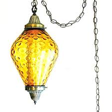 hanging swag lamp vintage amber outstanding light regarding chain a from the ceiling