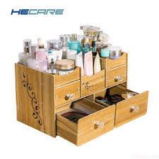 makeup organizer wood. wood makeup organizer box drawers modern diy assembly beauty case for cosmetics