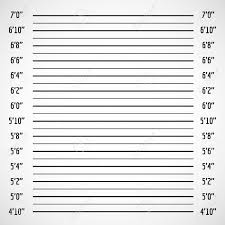 Police Lineup Height Chart Blank Criminal Police Lineup Or Mug Shot Vector Background Police