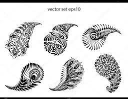 рисунки хной огурец элемент набор татуировки хной векторное