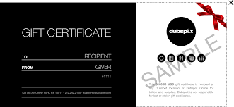 music course gift certificates dubspot gift certificates