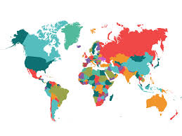 Map Of The World For Powerpoint Political Map World Backgrounds Business Red Travel White
