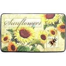 sunflower kitchen rugs bee rug red area yellow r