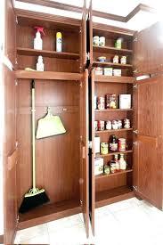 broom cabinet closet design inch deep pantry narrow dimensions slide