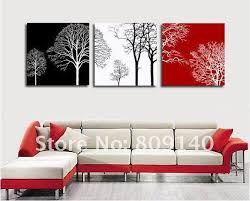 red black home office. Abstract Tree Black White Red Theme Oil Painting Canvas Artwork High Quality Handmade Home Office Hotel Wall Art Decor Decoration Free Ship S