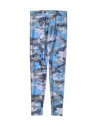 Terez Camo Blue Active Pants Size S Kids 72 Off Thredup