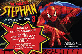 Spiderman Birthday Invitation Templates Free Free Printable Spiderman Birthday Invitation For Boys